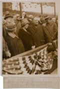 Autographs:Baseballs, 1923 First Pitch at Opening of Yankee Stadium Original Photograph, PSA/DNA Type 1. ...
