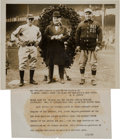 Autographs:Baseballs, 1923 Miller Huggins, Jacob Ruppert & Chance OriginalPhotograph, PSA/DNA Type 1. ...