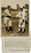 Autographs:Baseballs, 1921 Ty Cobb & Kid Gleason Original Photograph, PSA/DNA Type 1. ...