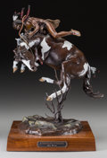 Sculpture, Jim Reno (American, 1929-2008). Comanche Uprising, 1989. Polychrome bronze. 18 inches (45.7 cm) high on a 2 inches (5.1 ...