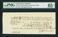 Colonial Notes:Connecticut, Connecticut Ralph Pomeroy Comptroller Receipt £5s.4d December 22,1790 PMG Gem Uncirculated 65 EPQ.. ...