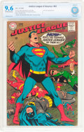 Silver Age (1956-1969):Superhero, Justice League of America #63 (DC, 1968) CBCS NM+ 9.6 Off-white to white pages....