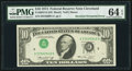 Error Notes:Inverted Third Printings, Fr. 2022-D $10 1974 Federal Reserve Note. PMG Choice Uncirculated64 EPQ.. ...