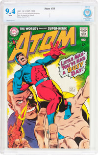 The Atom #34 (DC, 1968) CBCS NM 9.4 White pages