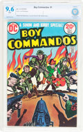 Bronze Age (1970-1979):War, Boy Commandos #1 (DC, 1973) CBCS NM+ 9.6 White pages....