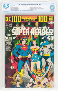DC 100-Page Super Spectacular #6 (DC, 1971) CBCS VF+ 8.5 White pages