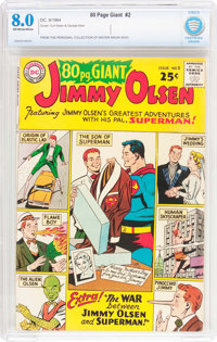 80 Page Giant #2 Jimmy Olsen (DC, 1964) CBCS VF 8.0 Off-white to white pages