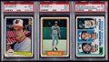Baseball Cards:Lots, 1982 Donruss, Fleer & Topps Cal Ripken Jr. PSA Graded Rookie Trio (3)....