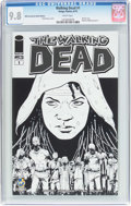 Modern Age (1980-Present):Horror, Walking Dead #1 Wizard World Sacramento Sketch Edition (Image,2015) CGC NM/MT 9.8 White pages....