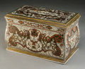 Decorative Arts, French:Other , A French Boulle Cigar Box, 19th century. 6-1/2 h x 10-1/2 w x 6-1/4d inches (16.5 x 26.7 x 15.9 cm). ... (Total: 2 Items)