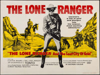 """The Lone Ranger and the Lost City of Gold (United Artists, 1958). British Quad (30"""" X 40""""). Western"""