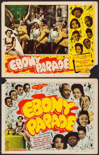"""Ebony Parade (Astor Pictures, 1947). Title Lobby Card & Lobby Card (11"""" X 14""""). Black Films. ... (Total: 2..."""
