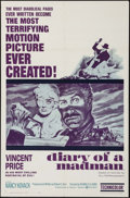 """Movie Posters:Horror, Diary of a Madman (United Artists, 1963). One Sheet (27"""" X 41"""").Horror.. ..."""