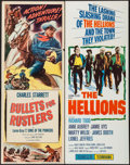 """Movie Posters:Western, Bullets for Rustlers & Others Lot (Columbia, R-1952). Inserts (4) (14"""" X 36""""). Western.. ... (Total: 4 Items)"""