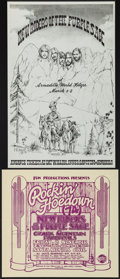 "Movie Posters:Rock and Roll, New Riders of the Purple Sage Concert Poster Lot (Various, 1974).Concert Posters (2) (11"" X 12"" & 11"" X 17""). Rock and Roll...(Total: 2 Items)"