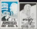 "Movie Posters:Rock and Roll, Dee Moeller at the Armadillo World Headquarters & Other Lot(AWH, 1977). Concert Posters (2) (11"" X 16.25"" & 11.5"" X17.5"").... (Total: 2 Items)"