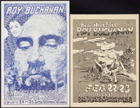 "Roy Buchanan at the Armadillo World Headquarters Concert Poster Lot (AWH, 1974/1975). Concert Posters (2) (11"" X 15..."