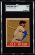 Baseball Cards:Singles (1940-1949), 1948 Leaf Joe DiMaggio #1 SGC 30 Good 2....