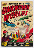 Golden Age (1938-1955):Horror, Journey Into Unknown Worlds #36 (Atlas, 1955) Condition: GD/VG....