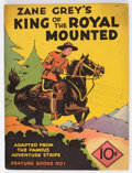 Platinum Age (1897-1937):Miscellaneous, Feature Books #1 Zane Grey's King of the Royal Mounted (David McKayPublications, 1937) Condition: VG/FN....