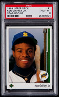 Baseball Cards:Singles (1970-Now), 1989 Upper Deck Ken Griffey Jr. #1 PSA NM-MT 8....