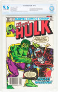 Modern Age (1980-Present):Superhero, The Incredible Hulk #271 (Marvel, 1982) CBCS NM+ 9.6 Off-white towhite pages....