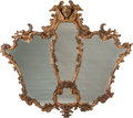 Decorative Arts, Continental:Other , An Italian Rococo-Style Carved Giltwood Segmented Mirror, 19thcentury. 52 h x 59 w inches (132.1 x 149.9 cm). ...