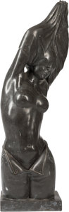 Fine Art - Sculpture, American, American School (20th/21st Century). Woman Undressing.Marble. 45-1/2 inches (115.6 cm) high. ...
