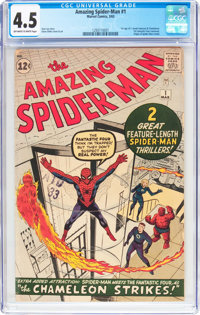 The Amazing Spider-Man #1 (Marvel, 1963) CGC VG+ 4.5 Off-white to white pages