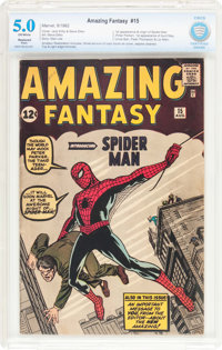 Amazing Fantasy #15 (Marvel, 1962) CBCS Restored VG/FN 5.0 Off-white pages
