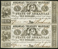 Obsoletes By State:Arkansas, (Little Rock), AR- Arkansas Treasury Warrant $10 Apr. 11, 1862 Cr. 54 Uncut Pair. ...