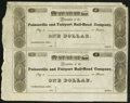 Obsoletes By State:Ohio, Painesville, OH- Painesville and Fairport Rail-Road Company $1-$1Wolka 2162-05 Uncut Pair. ...