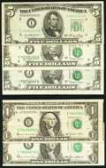 Error Notes:Error Group Lots, Grouping of Federal Reserve Note Errors.. ... (Total: 5 notes)