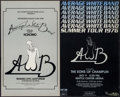 "Movie Posters:Rock and Roll, Average White Band Concert Poster Lot (Various, 1970s). ConcertWindow Cards (2) (13.5"" X 22""). Rock and Roll.. ... (Total: 2Items)"