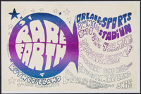 """Rare Earth with Ruth Copeland at the Orlando Sports Stadium (1971). Concert Poster (11"""" X 17""""). Rock and Roll..."""
