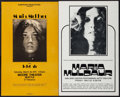 "Movie Posters:Rock and Roll, Maria Muldaur Concert Poster Lot (Various, 1970s). Concert WindowCards (2) (13.5"" X 22"" & 14"" X 22""). Rock and Roll.. ...(Total: 2 Items)"