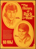 "Movie Posters:Rock and Roll, The History of Rock and Roll - The Real Don Steele and Glen Campbell & Other Lot (KHJ, 1969). Radio Show Poster (18.5"" X 28""... (Total: 2 Items)"