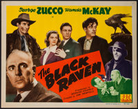 "The Black Raven (PRC, 1943). Title Lobby Card (11"" X 14""). Mystery"