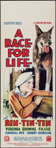 "Movie Posters:Adventure, A Race for Life (Warner Brothers, 1928). Australian Pre-War Daybill(15"" X 40""). Adventure.. ..."