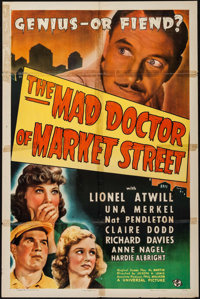 """The Mad Doctor of Market Street (Universal, 1942). One Sheet (27"""" X 41""""). Horror"""