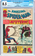 Silver Age (1956-1969):Superhero, The Amazing Spider-Man #13 UK Edition (Marvel, 1964) CGC VF+ 8.5 Off-white to white pages....
