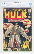Silver Age (1956-1969):Superhero, The Incredible Hulk #1 UK Edition (Marvel, 1962) CBCS VG 4.0Off-white to white pages....
