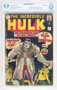 The Incredible Hulk #1 UK Edition (Marvel, 1962) CBCS VG 4.0 Off-white to white pages