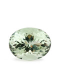 Gems:Faceted, Gemstone: Prasiolite - 12.2 Ct.. Brazil. 17 x 13.2 x 10.3mm. ...
