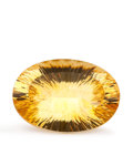 Gems:Faceted, Gemstone: Citrine - 26.73 Ct.. Uruguay. 25.7 x 18 x 10.3 mm. ...