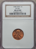 Lincoln Cents, 1980 1C Doubled Die Obverse , FS-101 MS65 Red NGC. NGC Census: (8/1). PCGS Population (3/1)....