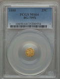 California Fractional Gold , 1880 25C Indian Octagonal 25 Cents, BG-799X, R.3, MS64 PCGS. PCGSPopulation (71/21). NGC Census: (10/13). ...