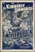 "Movie Posters:Serial, Tim Tyler's Luck (Universal, R-1940s). One Sheet (27"" X 41"") Chapter 12 -- ""The Kimberly Diamonds."" Serial.. ..."