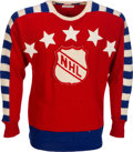 Hockey Collectibles:Uniforms, 1947 Maurice Richard NHL Inaugural All-Star Game Worn Jersey....