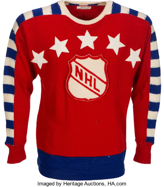 93e2b7426d1 ... Hockey Collectibles:Uniforms, 1947 Maurice Richard NHL Inaugural  All-Star Game Worn Jersey ...